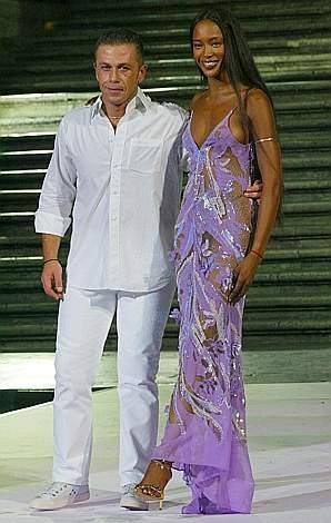 Gai Mattioli e Naomi Campbell