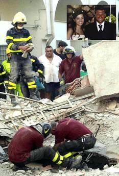 Afragola è in lutto per i 3 morti nel crollo della palazzina(Ansa)