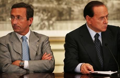 Berlusconi e Fini (Ansa)