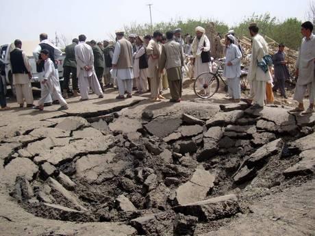 Afghanistan: voragine causata da un'esplosione(Ansa)