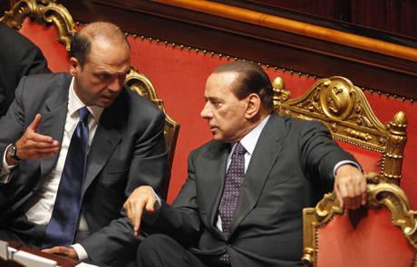 Berlusconi e Alfano (Ansa)