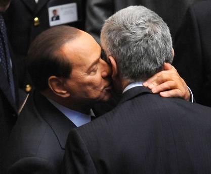Pier Ferdinando Casini e Silvio Berlusconi (Ansa)