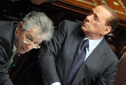 Bossi e Berlusconi (Ansa)